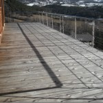 Balcon mélèze avec garde corps inox