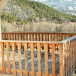 Terrasse et garde corps en mélèze